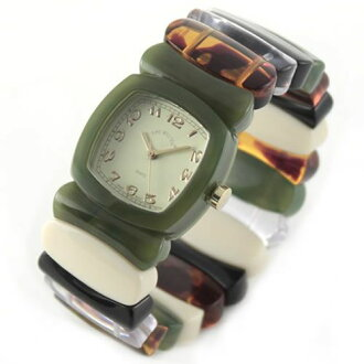 Bangle breath watch Multi-MSRA fs3gm which is the POP of the Time Will Tell thyme Teru Will (thyme Teru Will) moss-green & rainbow color modern & vintage flavor
