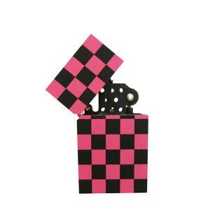 坪田パール ハードエッジ オイルライター チェッカー ピンク 5-36030-47 【メール便選択可】