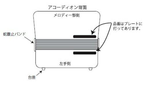 *【TOMBO(トンボ)アコーディオン】アコーディオン関連部品アコーディオン蛇腹止バンドJ−80用