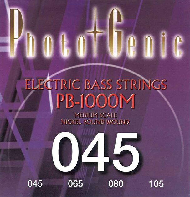 *【メール便発送、代引き不可】【Photogenic(フォトジェニック) ベース弦】PB-1000M ミディアムスケール レギュラーゲージ