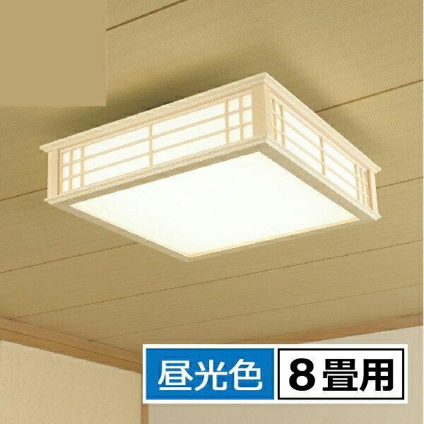 5%OFFクーポン!【送料無料】OHM LED和風シーリングライト 8畳用 昼光色 リモコン付 天然木使用 LE-W30D8K-K