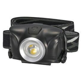 【送料無料】リュックバンド付 LEDヘッドライト 防水IPX4 100lm ブラック OHM 07-8871 LC-SYW1-K 懐中電灯アウトドア防災防犯グッズ