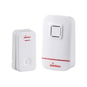 【送料無料】ワイヤレス コールチャイムセット 押しボタン送信機(瞬間発電式)+受信機(電池式) monban OHM 08-0521 OCH-EC80 ドア 介護・玄関の呼び出し・受付や店内の呼び出しに 玄関