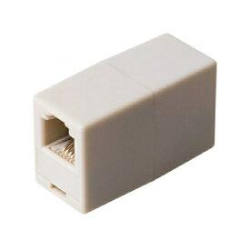 エントリーポイント6倍!【送料無料】ミヨシ 中継アダプタ 6極4芯 ホワイト DA-40WH 電話 オプション 周辺機器