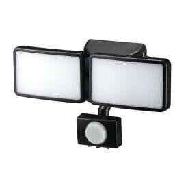 楽天カードポイント5倍!【送料無料】ヤザワ LEDセンサーライト ACコンセント式 防雨・調光タイプ 6W×2灯 リモコン付 SLR6LEA2 センサーライト 屋外 人感 LED