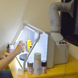 【送料無料】サンコー LEDライト付パワフルファン塗装ブース デラックス BRUSHBT5 模型 プラモ ジオラマ イラストの塗装に