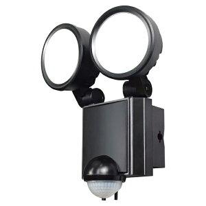 【送料無料】ELPA 屋外用LEDセンサーライト AC電源 8WLED 2灯 ESL-SS802AC 防雨 防犯 人感センサー セキュリティ エルパ