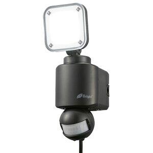 【送料無料】E-Bright LEDセンサーライト 1灯 1600lm 昼光色 コンセント式 ブラック OHM 06-4242 LS-A1155A19-K LED ナイトライト 人感 防犯灯