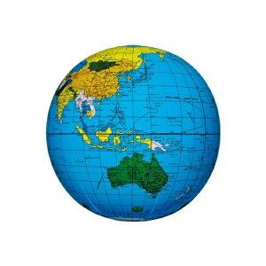 【メール便送料無料】地球儀ビーチボール 40cm ブルー イガラシ BGP-140 浮き輪 フロート ボート かわいい おしゃれ インスタ 海 川 プール レジャー