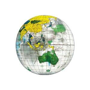 【メール便送料無料】地球儀ビーチボール 40cm クリア イガラシ BGP-240 浮き輪 フロート ボート かわいい おしゃれ インスタ 海 川 プール レジャー