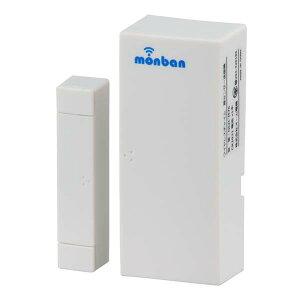 【送料無料】ワイヤレスチャイム 扉開閉センサー送信機 monban OHM 08-0519 OCH-M70 ドア 介護・玄関の呼び出し・受付や店内の呼び出しに 玄関 無線 チャイム 無線