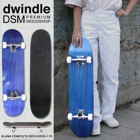 7.75インチ スケートボード コンプリートセット ブランクデッキ ブランク ウィール デッキテープ デッキ トラック セット ブラック DWINDLE DSM PREMIUM WOODSHOP BLANK COMPLETE DECK R20SS-7.75