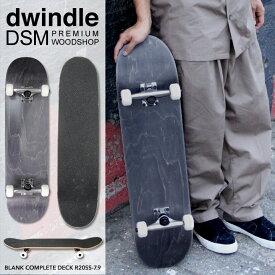 7.9インチ スケートボード コンプリートセット ブランクデッキ ブランク ウィール デッキテープ デッキ トラック セット ブラック DWINDLE DSM PREMIUM WOODSHOP BLANK COMPLETE DECK R20SS-7.9