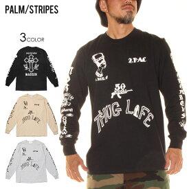 PALM/STRIPES パームストライプス ロンT ユニセックス AMARU SHAKUR TATOO TEE 2020秋冬 ブラック/グレー/サンド M/L/XL 【evi】