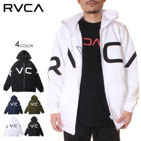 【 セール 30%オフ 】 RVCA ルーカ パーカー メンズ FAKE RVCA ZIP HOODIE 2020秋冬 ブラック/カーキ/ネイビー/ホワイト S/M/L/XL 【evi】