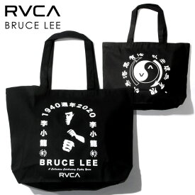 RVCA ルーカ トートバッグ メンズ RVCA x BRUCE LEE EIGHTY YEARS TOTE 2021春 ブラック ワンサイズ 【evi】