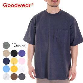 GOODWEAR グッドウェア Tシャツ メンズ USAコットンビッグ無地ポケットT 2W7-3505 2020春夏 ブラック/チャコール/レッド/ラベンダー/ネイビー/イエロー/カーキ/ピンク/ブルー/ホワイト/ M/L/XL 【evi】