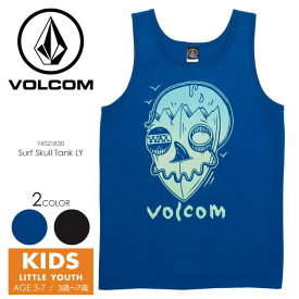 VOLCOM ボルコム Tシャツ キッズ SURF SKULL TANK LITTLE YOUTH Y4521830 2018春夏 ブラック/ブルー 100cm/110cm/120cm/130cm/140cm