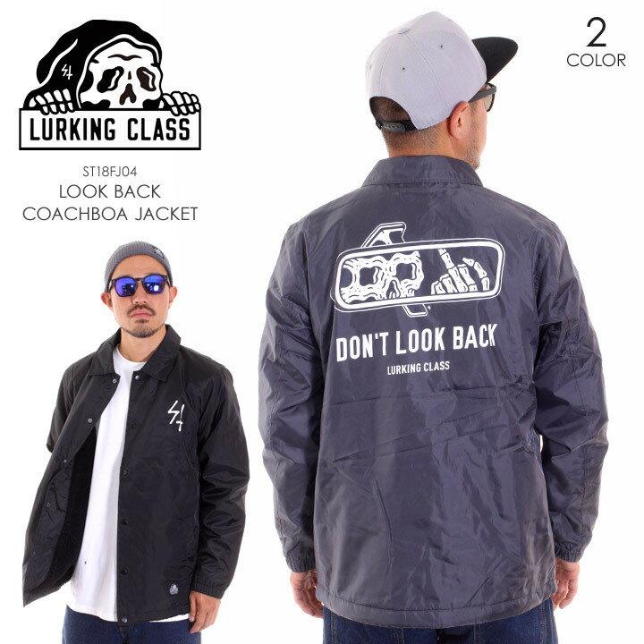 LURKING CLASS ラーキングクラス アウター メンズ LOOK BACK COACHBOA JACKET ST18FJ04 2018秋冬 グレー/ブラック M/L