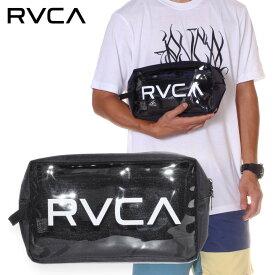 RVCA ルーカ バッグ メンズ RVCA CLEAR POUCH 2019春夏 ブラック ワンサイズ
