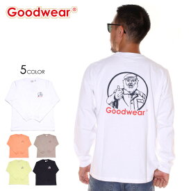 【エントリーでP5倍】 GOODWEAR グッドウェア Tシャツ ロンT メンズ MISTER PT. L/S TEE 2019秋冬 ブラック/ホワイト/グレー/ベージュ/オレンジ/グリーン M/L/XL