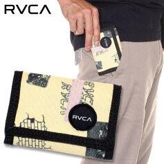RVCAルーカ財布RVCAPRINTTRIFOLD2019秋冬イエロー/ブルーワンサイズ
