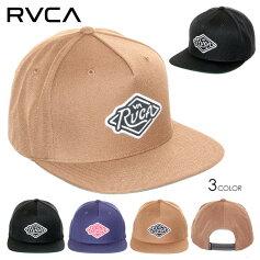 RVCAルーカキャップメンズSCRIPTSNAPBACK2019秋冬ブラック/ブラウン/ネイビーフリーサイズ
