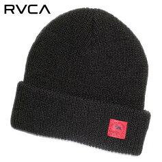 RVCAルーカビーニーメンズSMITHSTBEANIE2019秋冬ブラックフリーサイズ