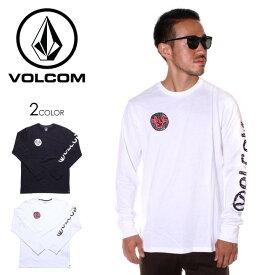 VOLCOM ボルコム Tシャツ ロンT メンズ JPN ROLLOUT LS TEE 2019秋冬 ブラック/ホワイト M/L/XL