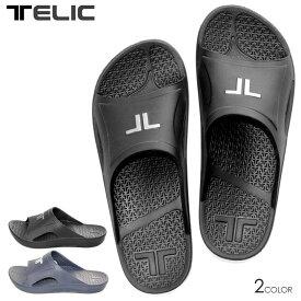 TELIC テリック サンダル メンズ LOGO IMPACT SLIDE 2020春夏 ブラック/ホワイト 25.5cm/28.0cm 【evi】