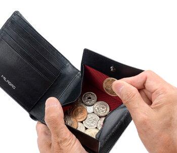 MilagroミラグロリアルカーボンF・スタンダードウォレット折り財布小銭コインea-mi-017【送料無料】