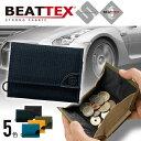 WEEKEND(ER) BEATTEX × coruri 3つ折りウォレット メンズ レディース 財布 折り財布 三つ折 小銭入れ付き ナイロン BEATTEX ビートテックス コルリ hsws001