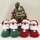 初めてのサンタさんクリスマスの飾り付けにも!(立体サンタクロース靴下)