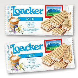 ≪単品販売≫[13]【ローカー ミルクミニ 45g 1袋】 輸入ウエハースNO.1! 自分へのご褒美に リッチなおやつタイムに おもてなしに オーストリア Loacker 輸入菓子