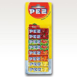 ≪単品販売≫[7]【PEZ (EU) リフィル8P フルーツ 68g 1個】 世界中で愛されているキャンディー 様々なキャラクターヘッドでお馴染み『PEZ』のリフィル8パック入り ラムネ 替え コレクター コレク