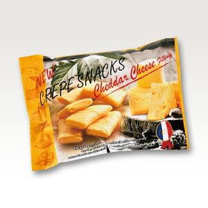 送料無料【エイム クレープスナック チェダーチーズ 30g 18袋入】 ★まとめ買い★ サクッとしたクレープクッキー 濃厚なチェダーチーズ フランス 輸入菓子 おつまみに ティータイムに ブレ
