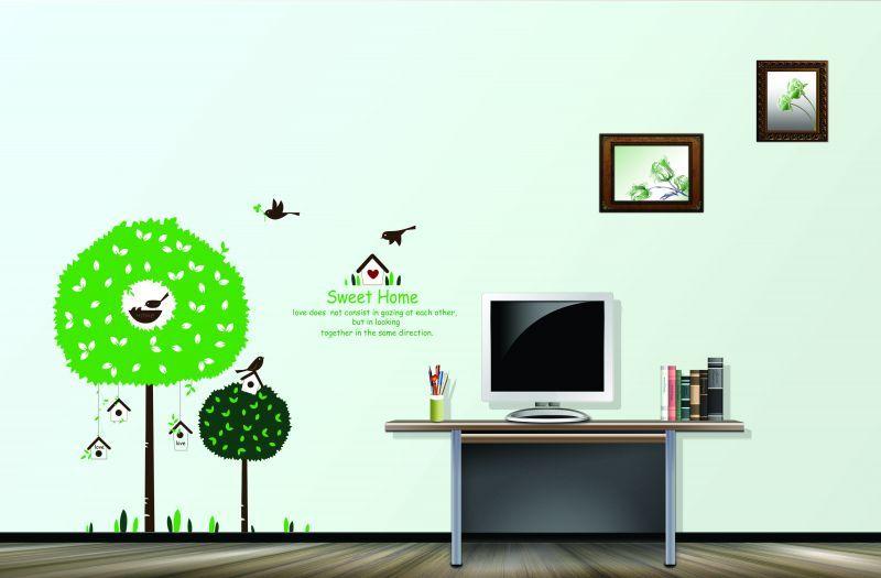 ウォールステッカー【Sweet Home】インテリア・寝具・収納 インテリアファブリック(クッション・テーブルクロス・布装飾)