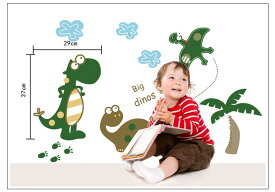 【300円クーポンあり】ウォールステッカー【恐竜楽園】50×70cm 壁紙 シール 賃貸OK はがせる 剥がせる DIY 模様替え インテリア 恐竜 サウルス ザウルス 怪獣 かわいい 爬虫類 動物 生き物