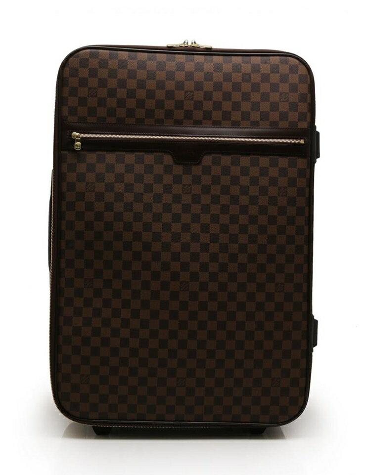 超美品 LOUIS VUITTON ルイヴィトン ペガス65 キャリーケース 旅行バッグ N23295 ダミエエベヌ 茶【本物保証】【中古】