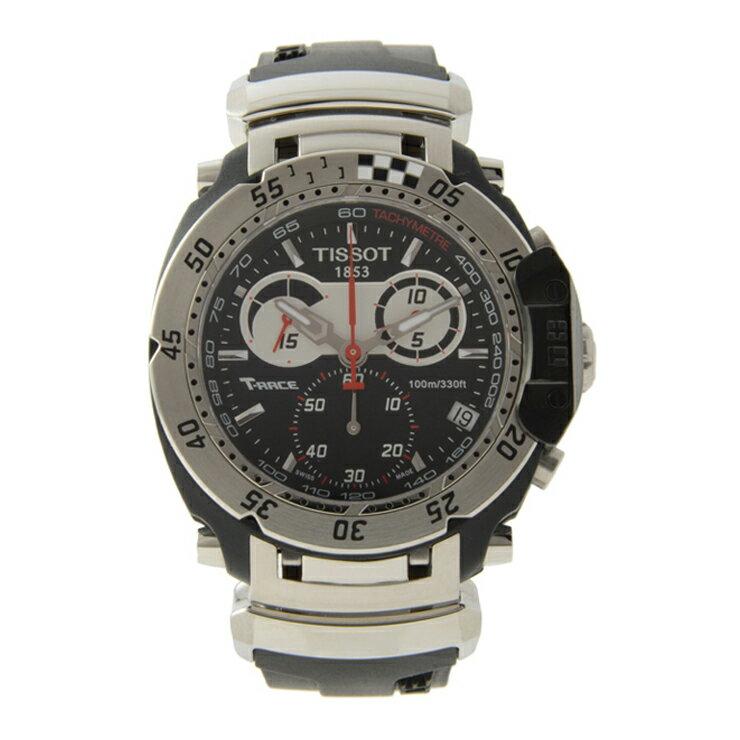 超美品 TISSOT ティソ クオーツ 腕時計 メンズウォッチ Tレース MotoGP リミテッドエディション 2009年モデル T027.417.17.051.00 クロノグラフ【本物保証】【中古】