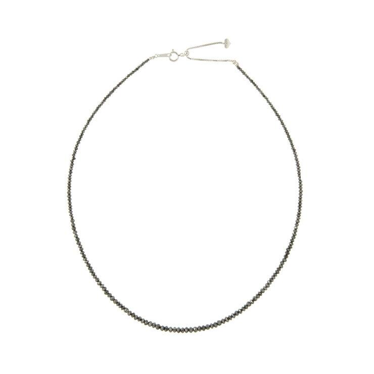美品 貴金属 ブラックダイヤ ネックレス 20ct ホワイトゴールド K18WG 750 アクセサリー 小物【中古】