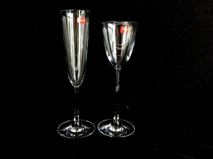 新品未使用展示品 Baccarat バカラ シャンパングラス ワイングラス セット クリスタル クリア 小物【本物保証】【中古】