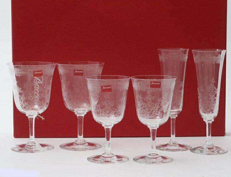 新品未使用展示品 Baccarat バカラ グラス 6点セット クリスタルガラス クリア 食器【本物保証】【中古】