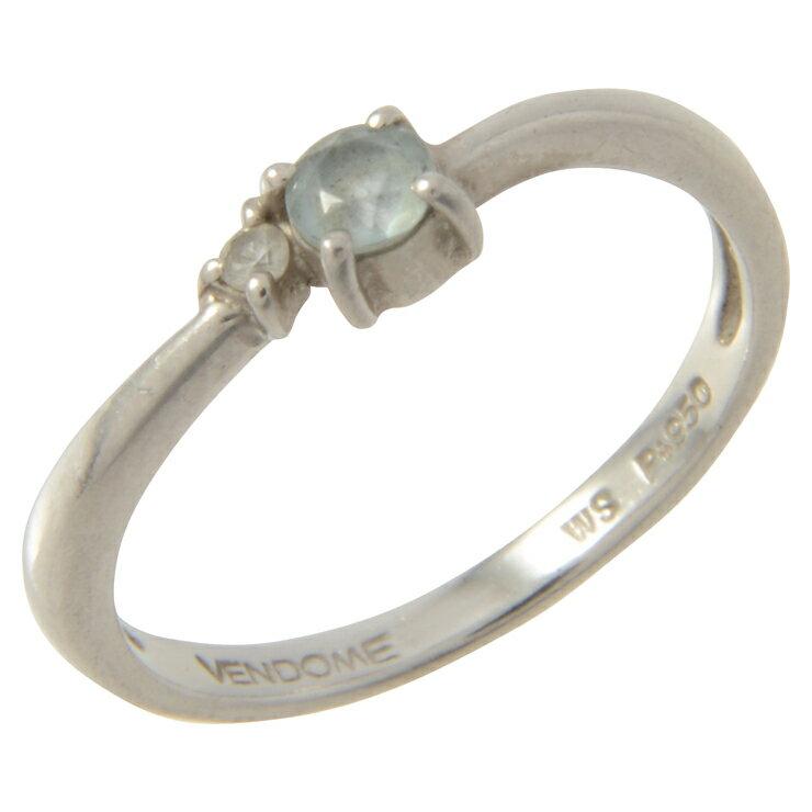 (タイトル記載)VENDOME AOYAMA ヴァンドーム青山 デザインリング 指輪 5.5号 PT950 アクセサリー レディース【本物保証】【中古】