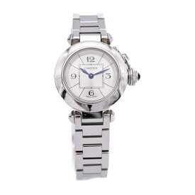 Cartier カルティエ ミスパシャ レディース 腕時計 W3140007 SS シルバー クォーツ【本物保証】【中古】