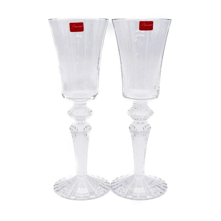 新品未使用展示品 Baccarat バカラ ミルニュイ ワイングラス ペア クリア クリスタルガラス 22.5cm【本物保証】【中古】