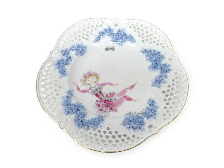 超美品 Meissen マイセン 真夏の夜の夢 ミッドサマーナイトドリーム プレート 皿 28cm 大皿 磁器 マルチカラー 食器【本物保証】【中古】