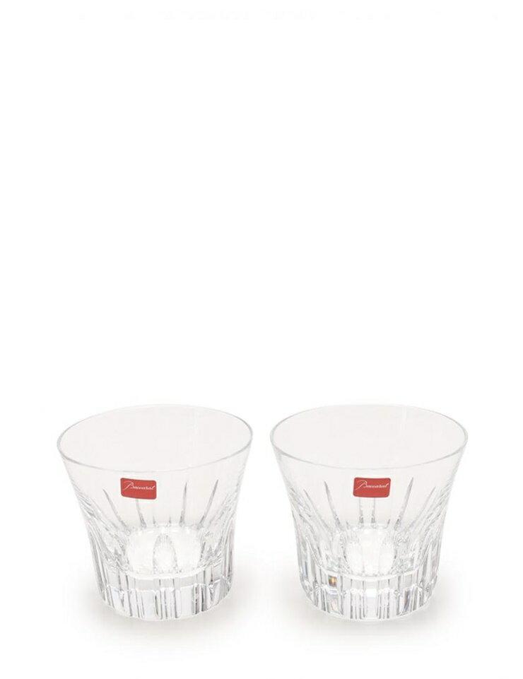 新品未使用展示品 Baccarat バカラ エトナ ペアロックグラス クリスタルガラス クリア 【本物保証】【中古】
