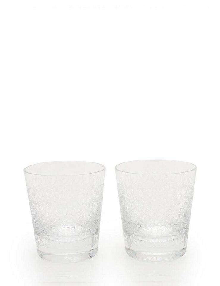 超美品 Baccarat バカラ ローハン タンブラー ロックグラス ペア クリスタルガラス クリア 【本物保証】【中古】