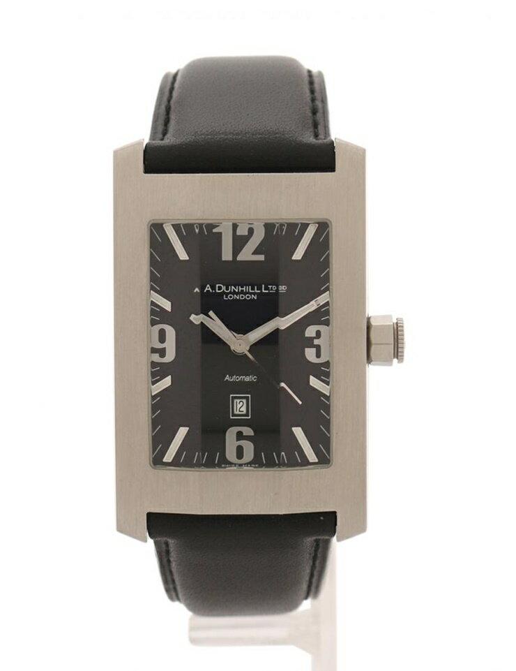 超美品 dunhill ダンヒル ダンヒリオン メンズ 腕時計 8040 自動巻き オートマチック SS レザー シルバー ブラック【本物保証】【中古】